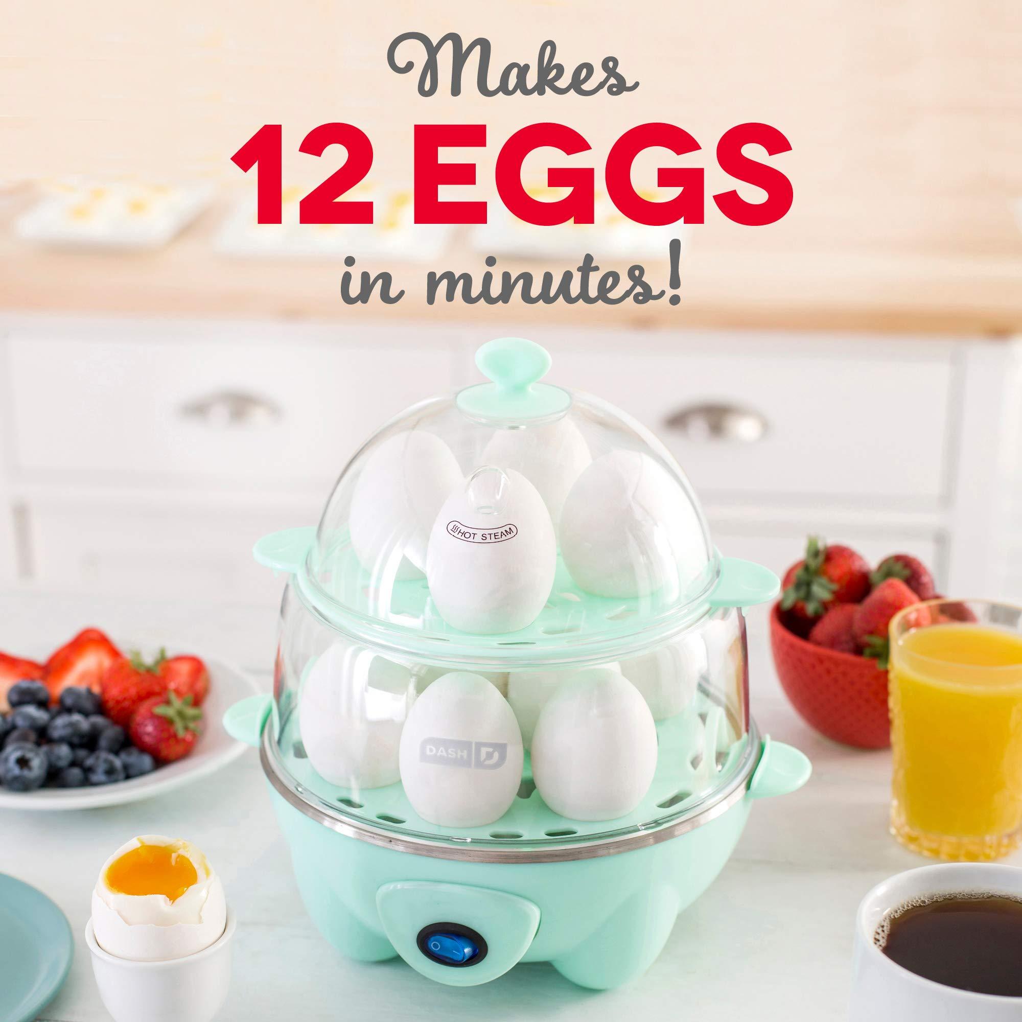 Dash Deluxe Rapid Egg Cooker: 12 Egg Capacity Electric Egg