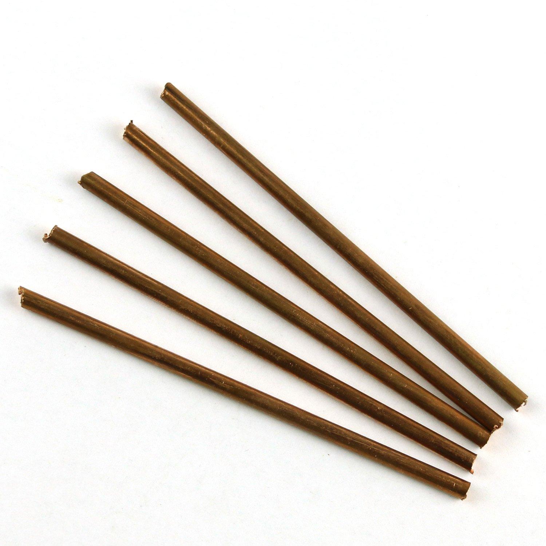 LEISHENT 2PCS Pure Copper Cu Metal Rods Diameter 4Mm Length 500Mm