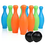 High Bounce Bowling Playset with 10 Pins and 2