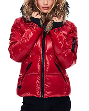 d413881ac17fa Amazon.com: SAM. Women's Blake Short Down Jacket with Fur: Clothing