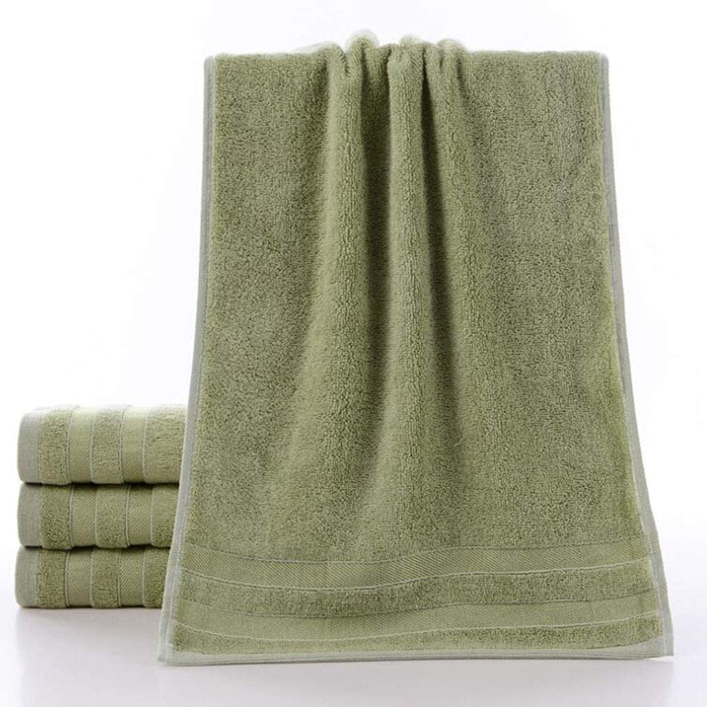 DABAI Microfiber Sports Solid Color Towel Quick-Drying Fitness Sports Towel Yoga Camping Trip Hiking Beach Etc. 1 Pack 76CM X34CM (Color : Green)