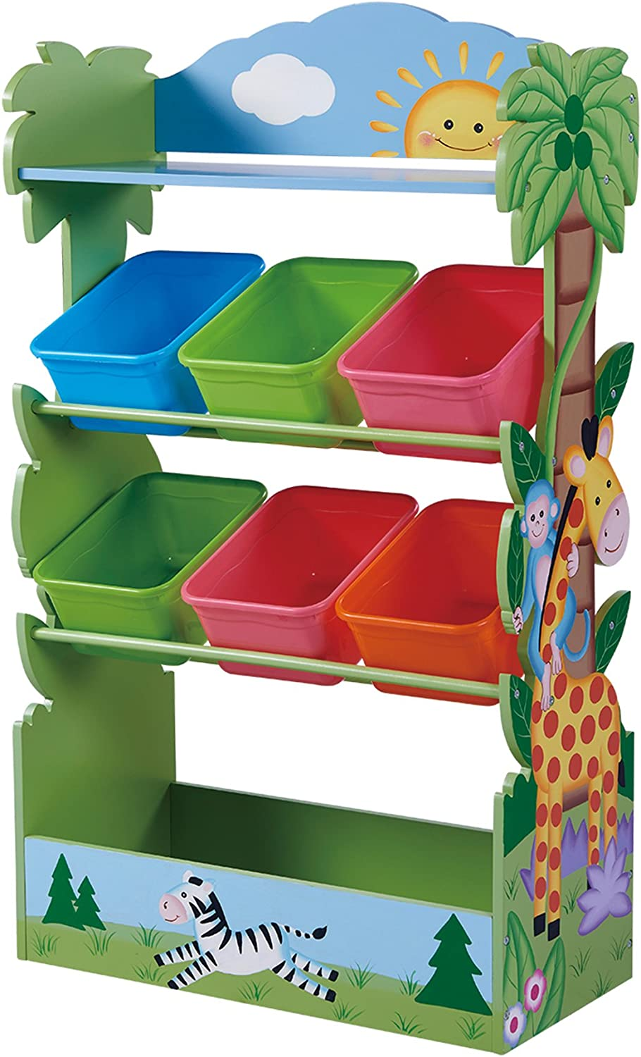 Fantasy Fields - Toy Furniture -Sunny Safari Toy Organizer with Combo Bins