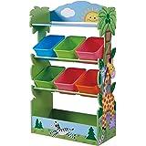 Fantasy Fields Almacenamiento de Juguetes para niños Color Amarillo Verde Versanora TD-12799A