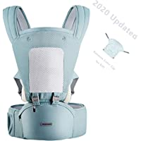 YIYUNBEBE 3-in-1 Baby Carrier with Hip Seat, Baby Sling Ergonomic Soft Breathable, Baby Carrier Wrap for Outdoor…