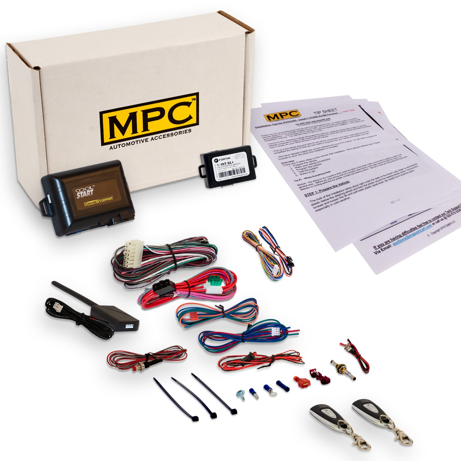 MPC Complete 1-Button Extended Range Remote Start Kit and Keyless Entry For 2005-2007 Jeep Liberty - Firmware Preloaded