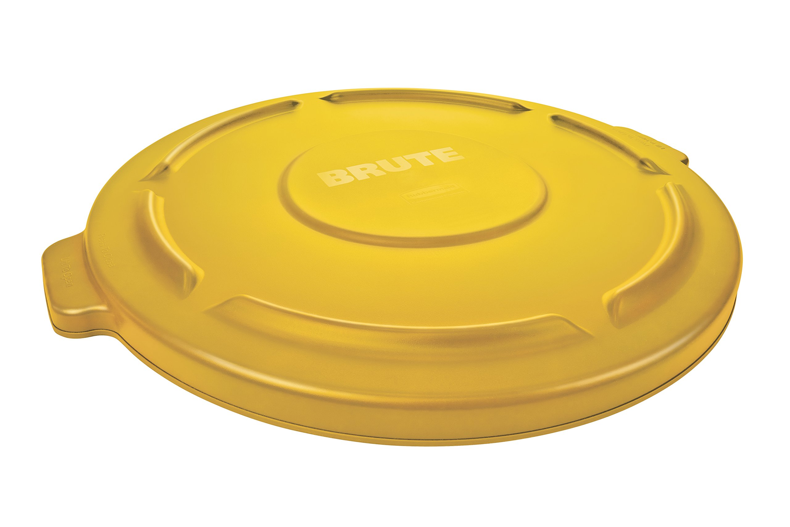 Rubbermaid Commercial FG260900YEL BRUTE Heavy-Duty Round Waste/Utility Container, 10-gallon Lid, Yellow