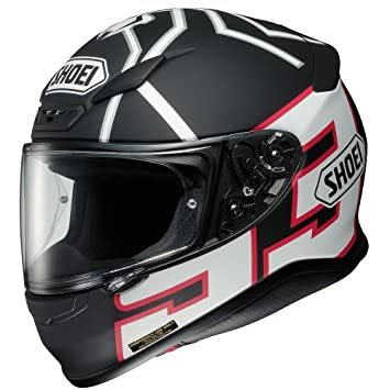 Shoei Marquez Black Ant RF-1200 Sports Bike Racing Motorcycle Helmet - TC-5