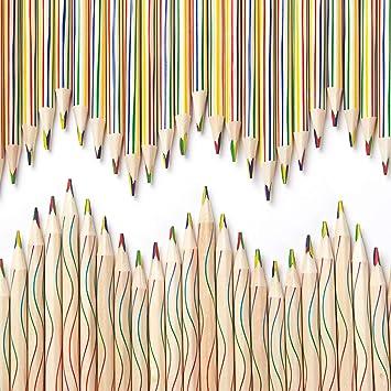 Amazon.com: 60 lápices de colores arcoíris 4 en 1, varios ...