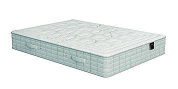 Poligón - Colchón vital visco - muelles tecnosac, talla 135x190cm, color blanco / gris
