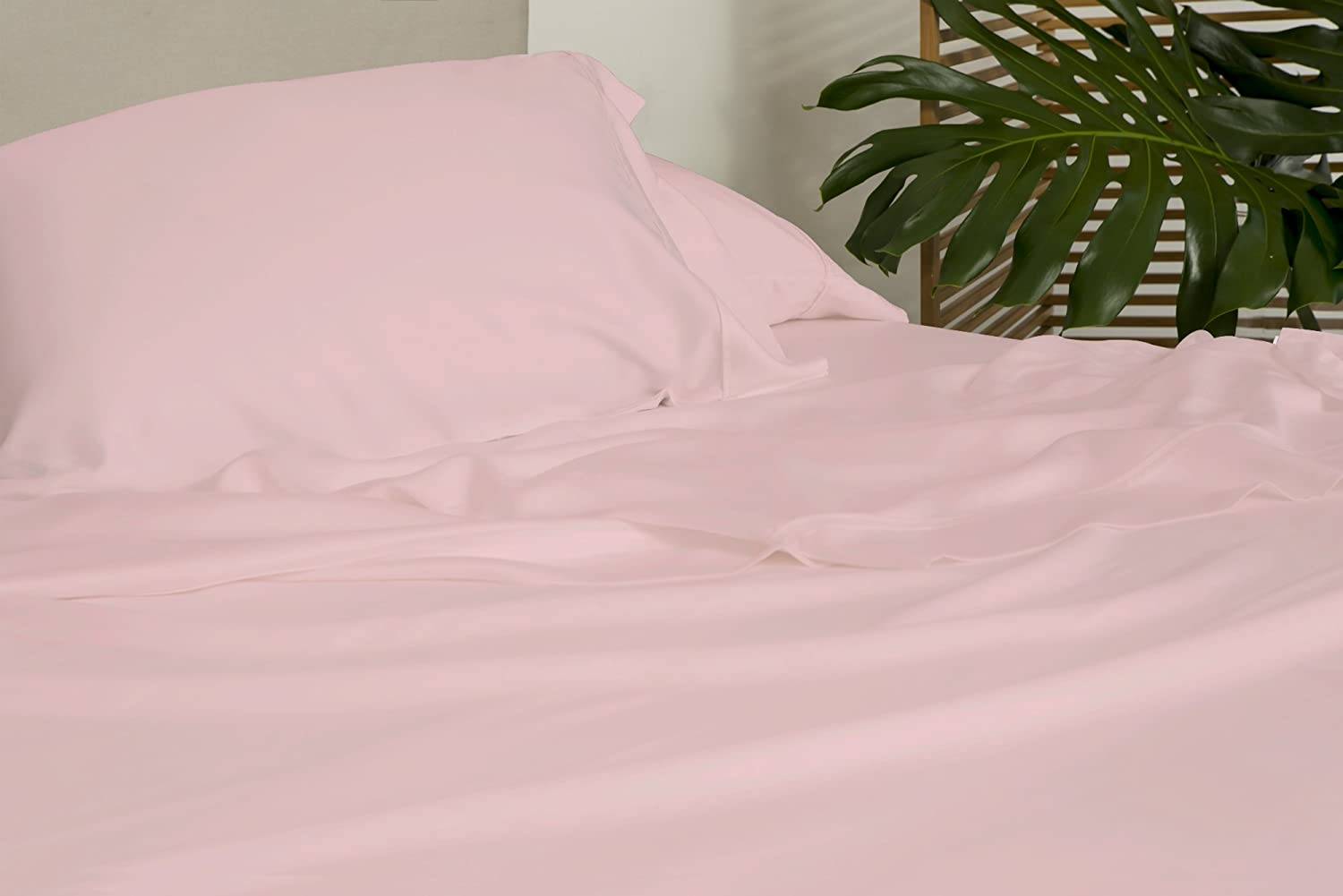 SHEEX Arctic Aire Max Sheet Set with 1 Pillowcase, 100% Tencel with CoolX Technology, Pink, Twin