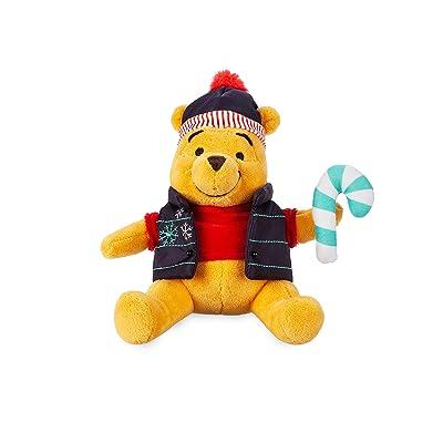 Disney Winnie The Pooh Holiday Plush – Mini Bean Bag – 7 Inch: Toys & Games