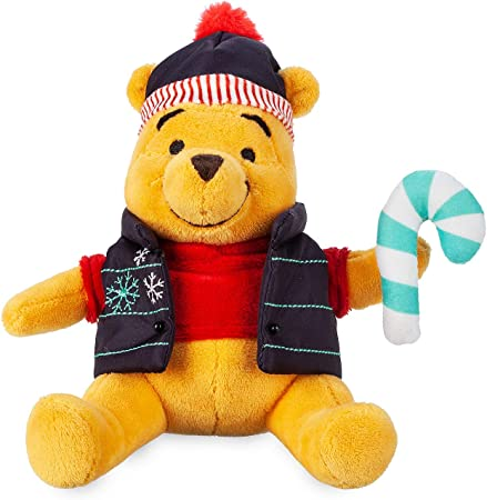 Disney Winnie The Pooh Holiday Plush - Mini Bean Bag - 7 Inch