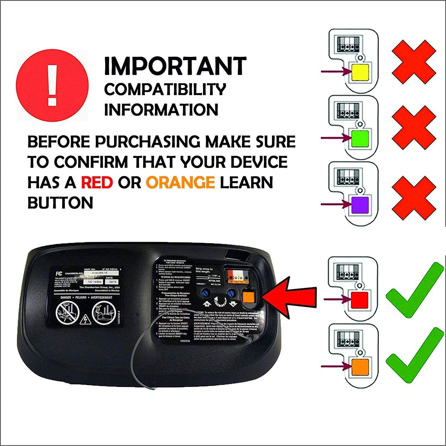 Garage Door Openers Replacement Remote 3 Pack for LiftMaster 970LM ...