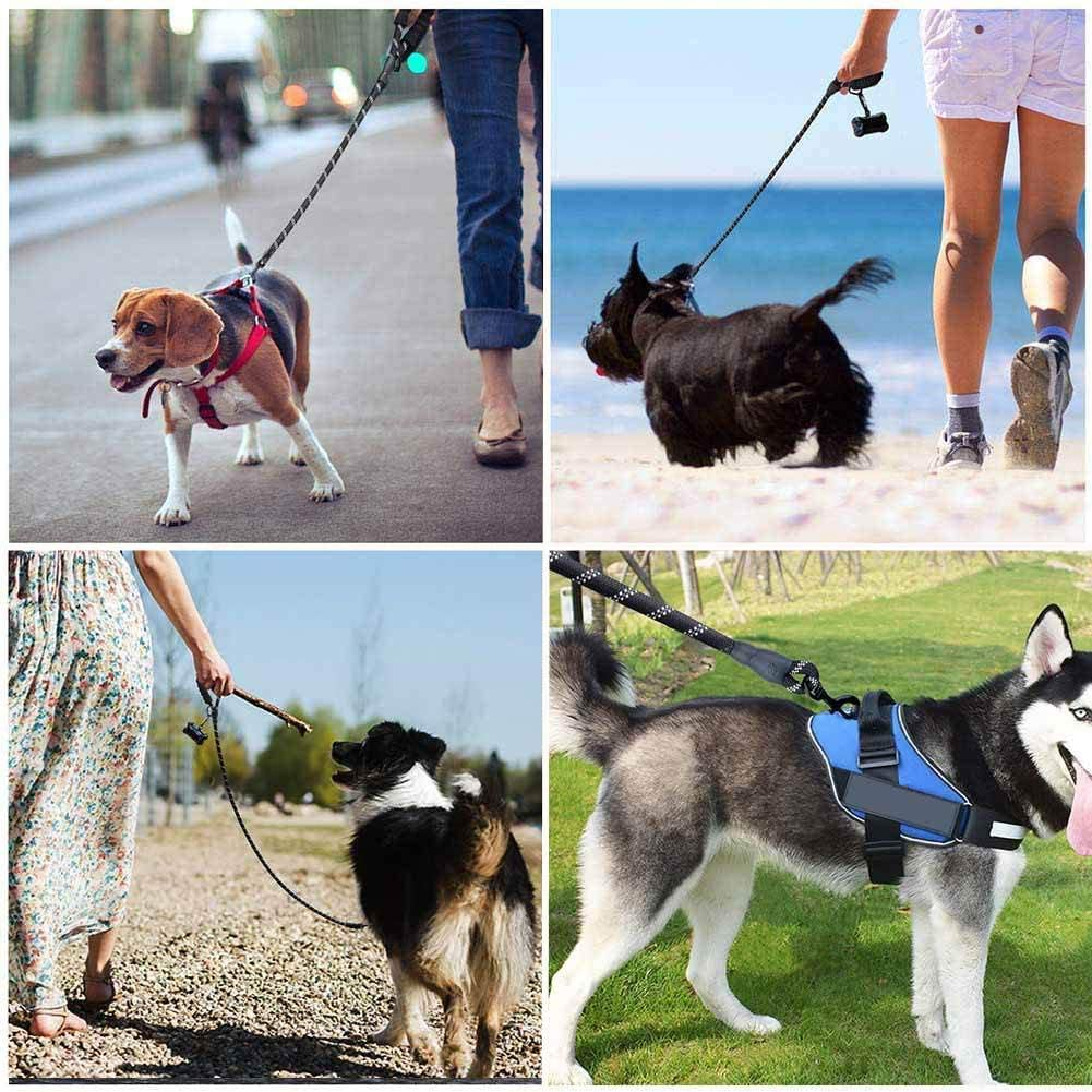 ZuiJia Adjustable dog harness no pull,Breathable small dog harnesses for Small Medium Dog. comfortable Free Flea and Tick Collar Included Medium, Red