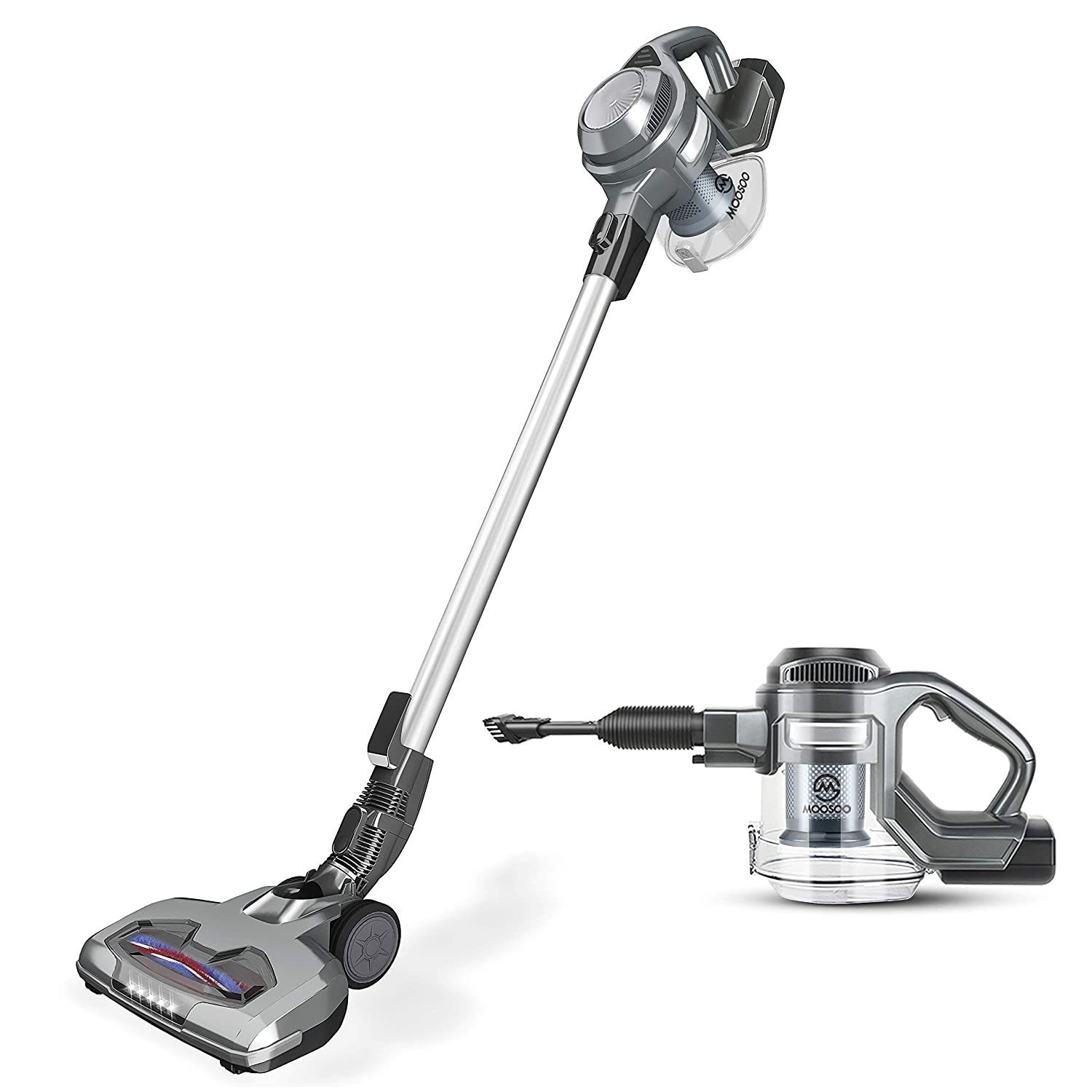 MooSoo Vacuum Cleaner 2 in 1 Cordless Stick