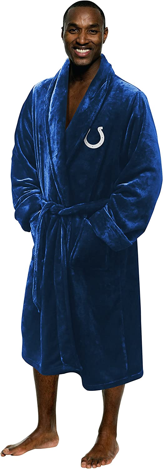 Officially Licensed NFL Men's Silk Touch Lounge Robe: Clothing