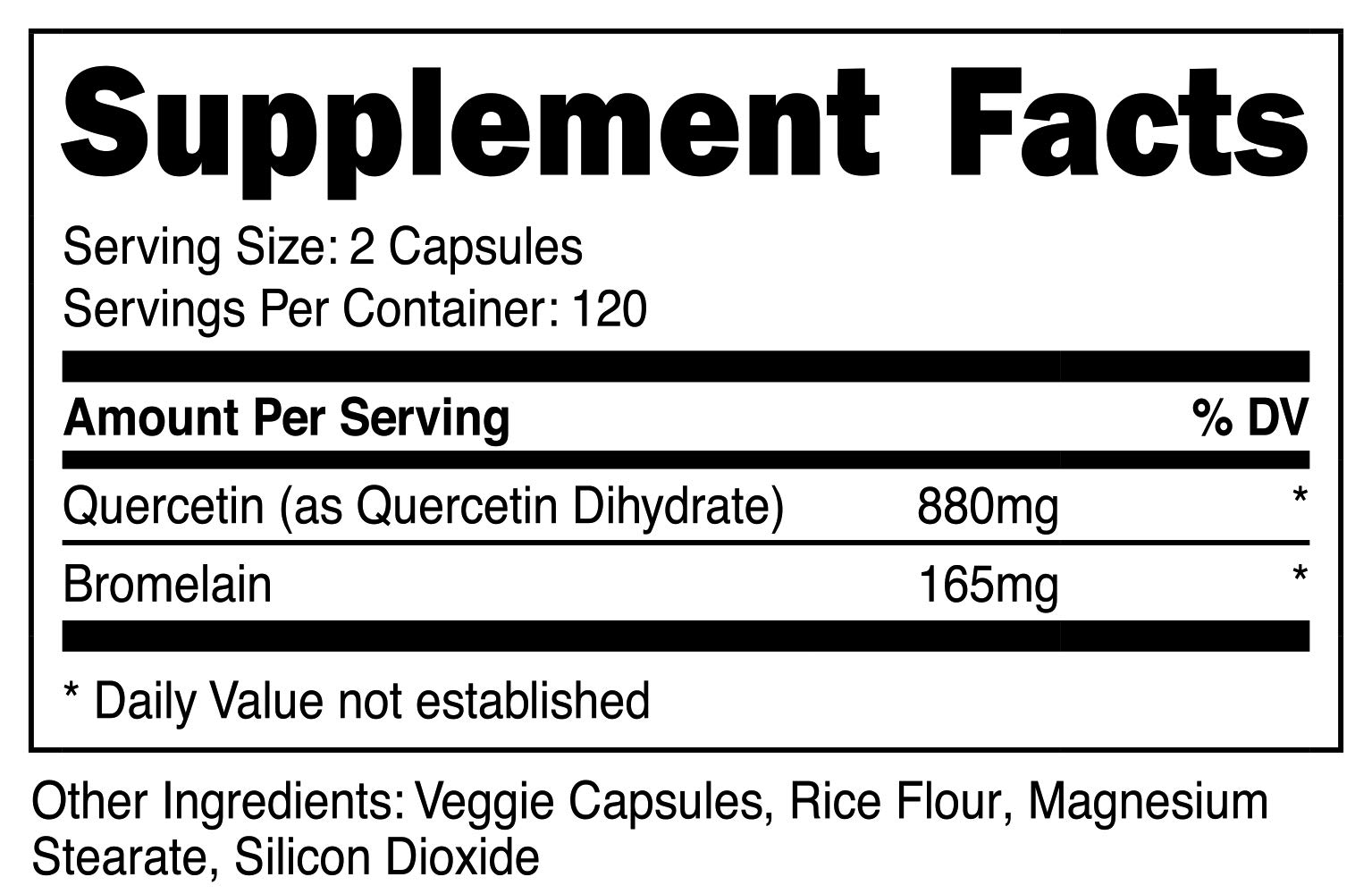Nutricost Quercetin 800mg, 240 Caps With Bromelain (2 Bottles) by Nutricost (Image #2)