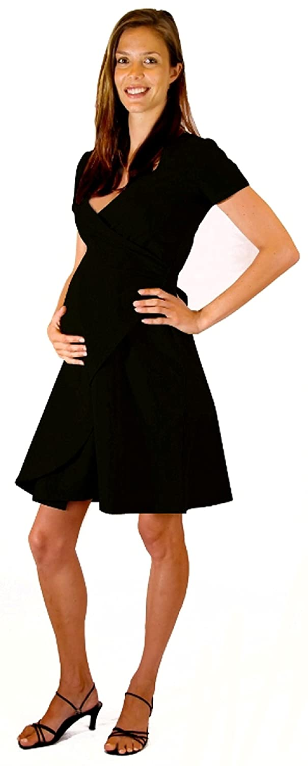 Classic black maternity wrap dress at amazon womens clothing store ombrellifo Image collections