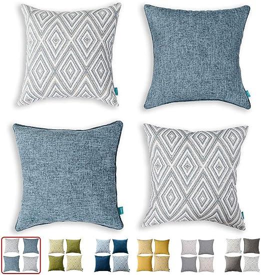 Blue Sea Life Plants Cushion Covers Throw Pillow Cases Home Bedroom Sofa Decor