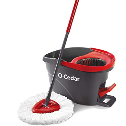 Amazon.com: O-Cedar EasyWring Microfiber Spin Mop, Bucket Floor Cleaning System: Home & Kitchen