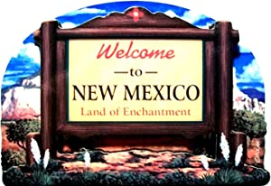 New Mexico State Welcome Sign Wood Fridge Magnet 2
