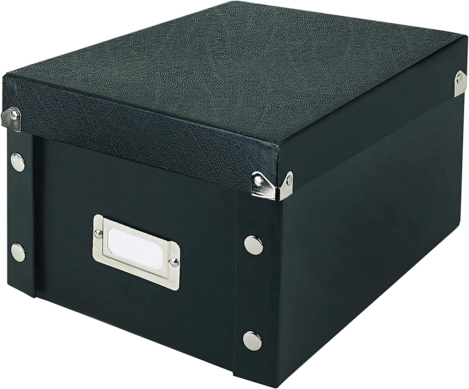 SNS01577 Snap-N-Store Durable Collapsible Index Card File Fits 1100 4 x 6 Inch Index Cards ,Black