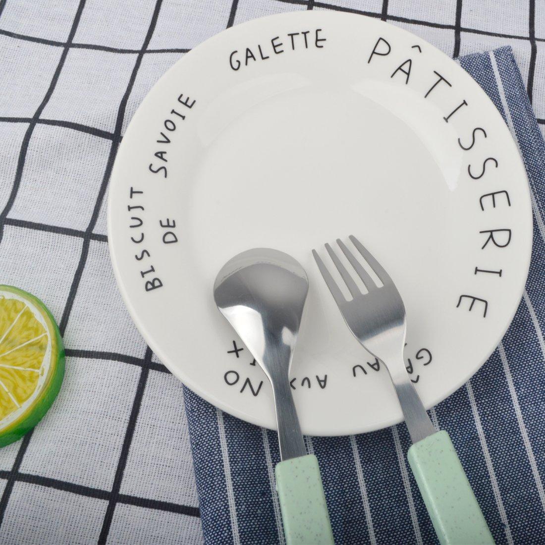 公式の店舗 18/ 10ステンレススチール子テーブルウェアセットシルバーカトラリーセット銀食器ディナー食器スプーンフォークセットwith Travel Case for Kids for Toddlers/ Travel グリーン グリーン B075GJQP76, mirco-shop:d8465e4d --- a0267596.xsph.ru