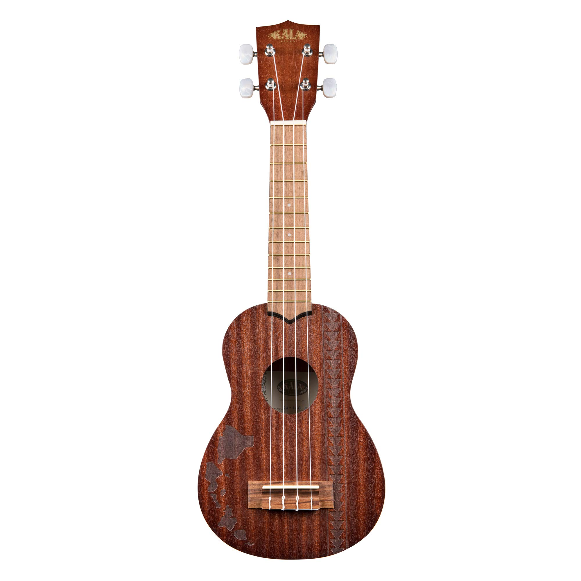 Kala Mahogany KA-15S-H2 Soprano Ukulele (Hawiian Islands with Tattoo Band) by Kala