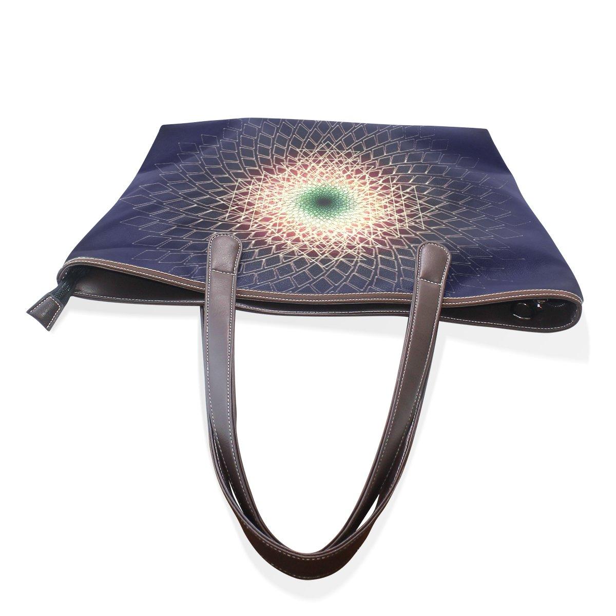 Mr.Weng Household Abstract Geometry Lady Handbag Tote Bag Zipper Shoulder Bag