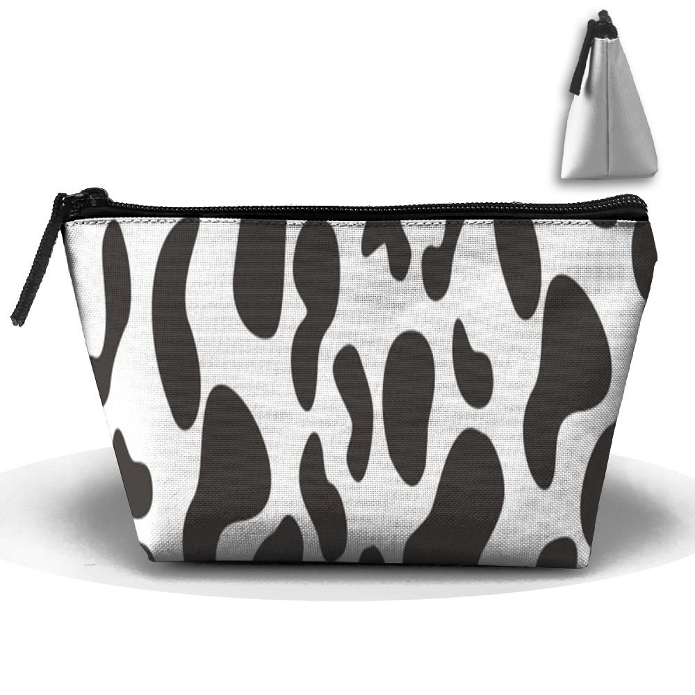 e427f04202c2 Tailing Trapezoid Receive Bag Cow Spot Print Full Print Cosmetic Bag ...