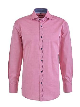 9cb2d938e08 Milano Italy Herren Hemd, Beere 926: Amazon.de: Bekleidung