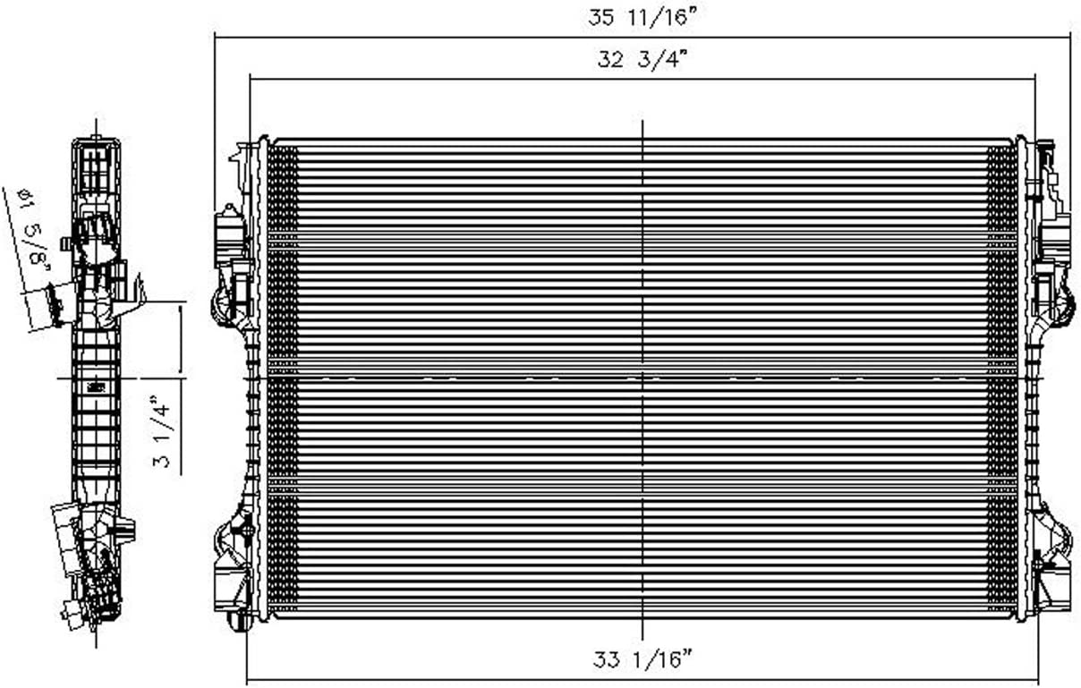 OE Replacement Radiator PORSCHE PANAMERA 2010-2016