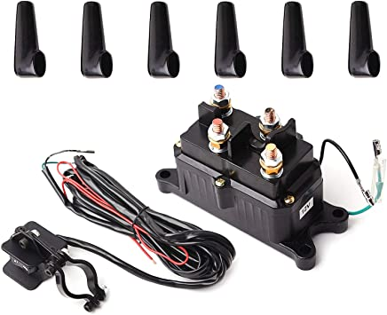 Amazon Com 12v Solenoid Relay Contactor Winch Rocker Thumb Switch Combo For Atv Utv Automotive