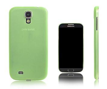 Xcessor Dark Magic Funda Carcasa Para el Samsung Galaxy S4 i9500. Ultra Delgado Plástico Duro. Verde/Semi-Transparente