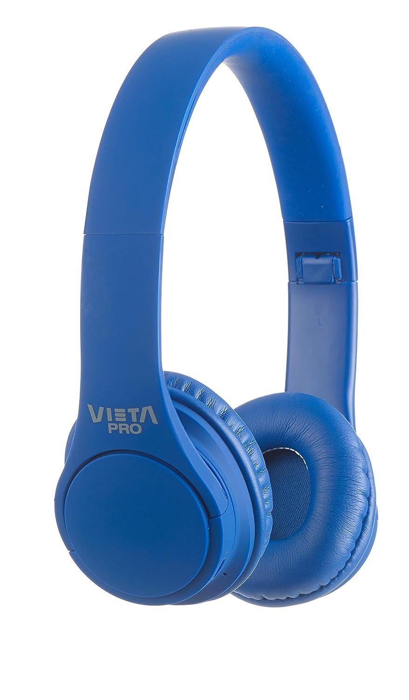Vieta Pro Wave – Auriculares inalámbricos (Bluetooth, radio FM, micrófono integrado, entrada Auxiliar, reproductor Micro SD, plegables, autonomía 12 ...