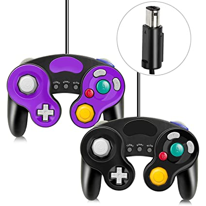 DCMEKA Gamecube Controllers for Nintendo Switch, Wii Controller with Turbo  Function No Lag/Driver Compatible With Switch/Wii/Wii U/PC Classical Wired