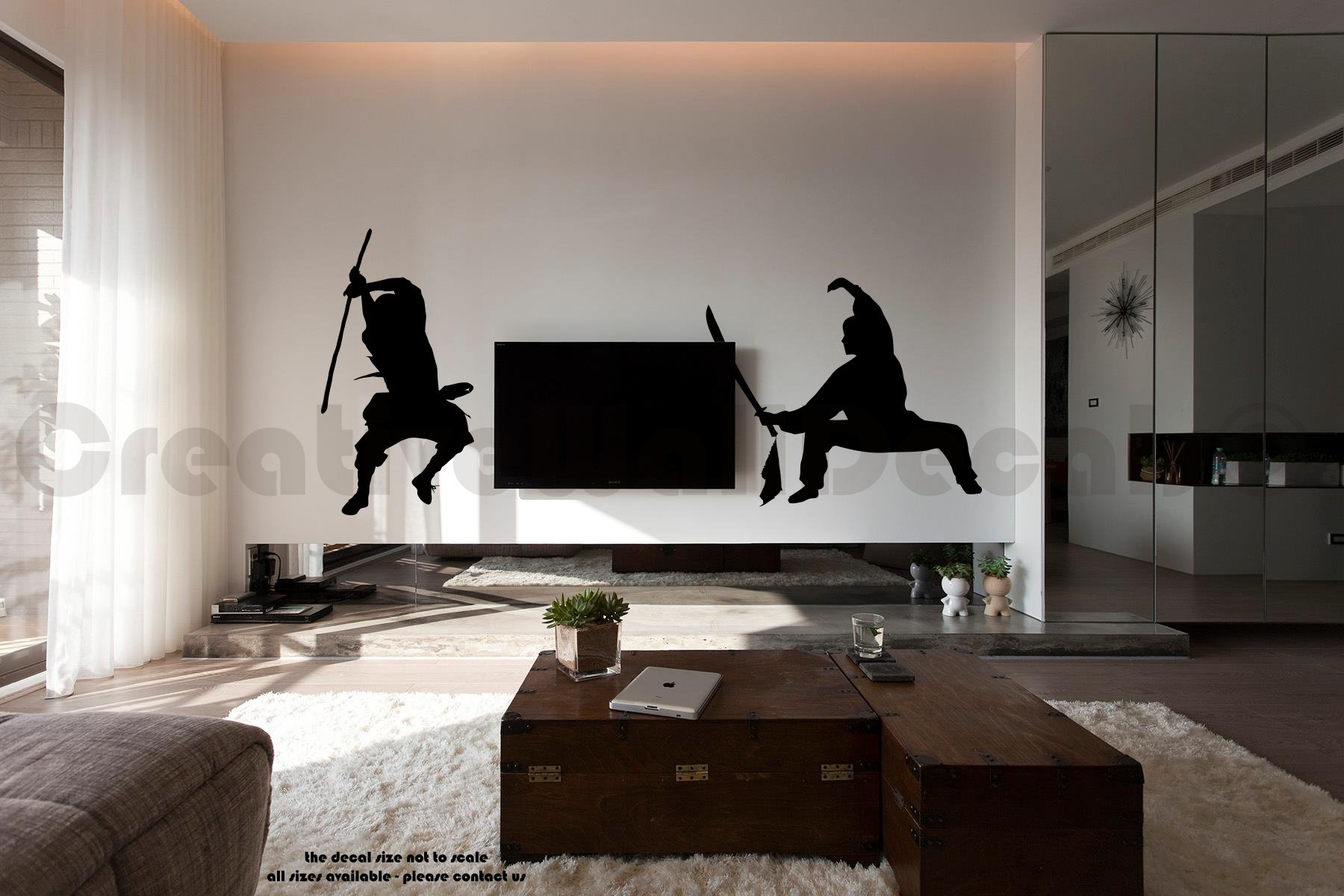 Vinyl Wall Decal Sticker Samurai Muai Thai Weapoon Kung Fu Bedroom Kids R1756 by CreativeWallDecals