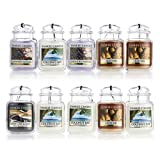 10 x Official Yankee Candle 3D Car Jar Ultimate Air Fresheners Assorted Scents