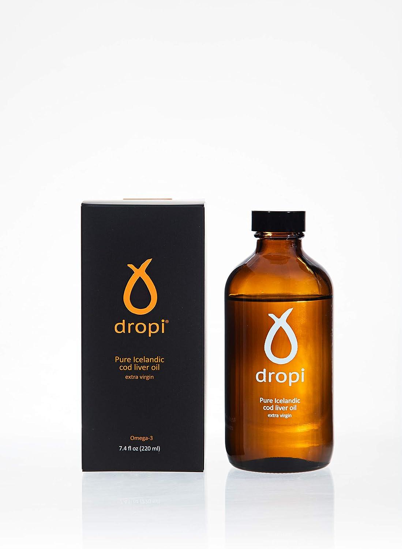 Dropi Aceite de Hígado de Bacalao Islandés Puro - Virgen Exceso 220 Ml