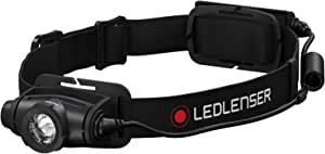 Ledlenser - H5R Core Rechargeable Headlamp, High Power LED, High Dust and Water Protection, Flexible Head Rotation, Dimmable