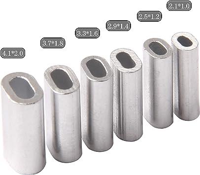 100pcs//bag Aluminum fishing line Crimp sleeve copper tube 1.0mm-2.0mm SP