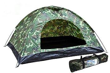 Tienda de Campaña Militar Camuflaje Pesca Caza Camping 2x2m 4 personas 4123c: Amazon.es: Deportes y aire libre