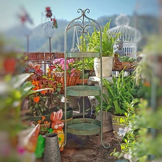 My Yard Soporte de flores de 3 niveles Jaula de pájaros Soporte de ...