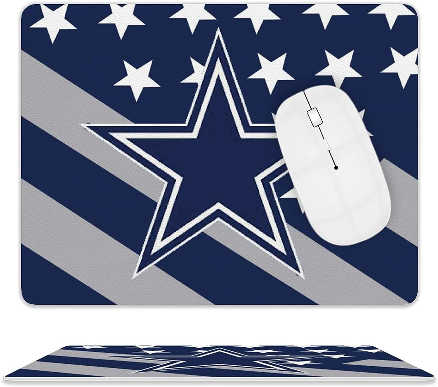 G-III Sports Dallas Cowboys Computer Mouse pad Non-Slip Rubber Base with Stitched Edges for Office (10