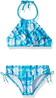 Amerla Girls Tropical Tankini Reversible 2 Piece Swimsuits Bathing Suits Beach Sport Swimwear 9-14 Years