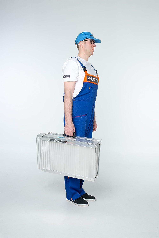 1R4 WORHAN/® Rampa Plegable Carga Silla de Ruedas Discapacitado Movilidad Aluminio Anodizado 122cm solo pliegue