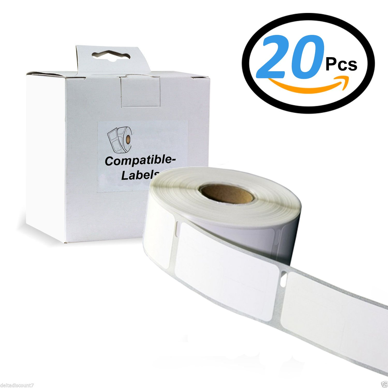 20 X Colour Direct 11352 White Address Labels ( 25mm x 54mm ) Compatible For All Dymo Label Writers : 310, 320, 330, 330 Turbo, 400, 400 Turbo, 400 Twin Turbo, 400 Duo, 450, 450 Turbo, 450 Twin Turbo, 450 Duo, 4XL, EL40, EL60, Seiko SLP 100, 120, 200, 220,