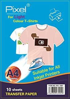 a296c66af PIXEL A4 Inkjet Iron On Transfers Paper T Shirt Picture Image Transfers -  Light Colour T