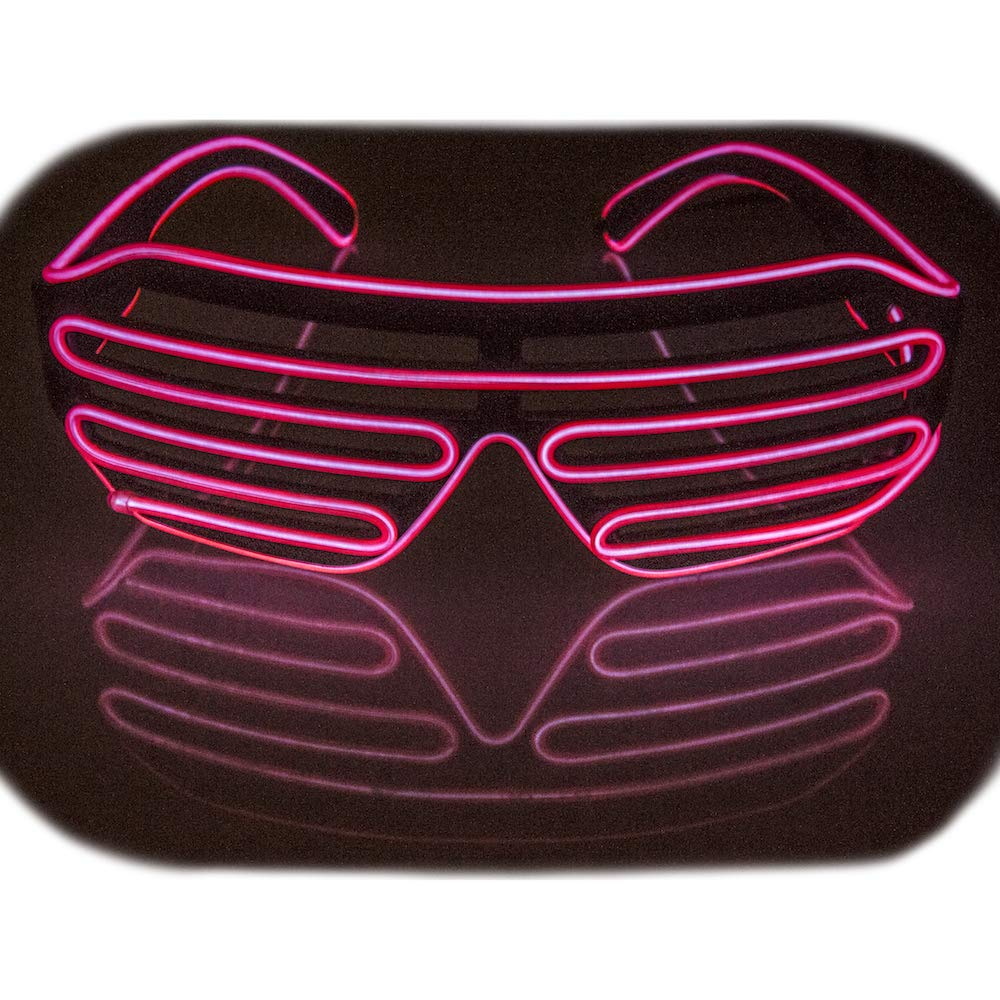 Fadory Led Light Up Party Glowing Glasses for Halloween Costume Parties Decorations (Green)