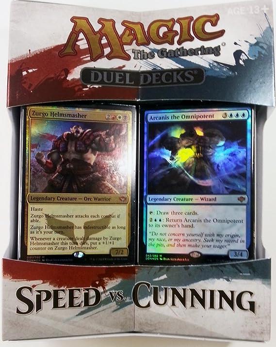 MAGIC THE GATHERING DUEL DECK SPEED VS CUNNING: Amazon.es: Juguetes y juegos